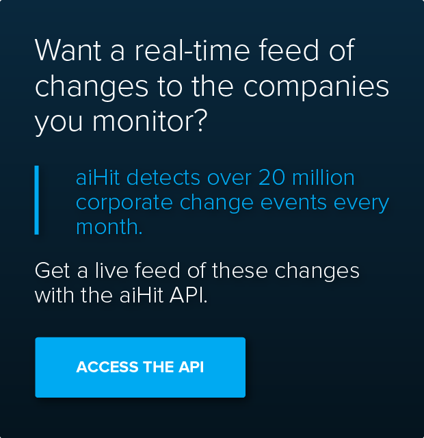 Want a real-time feed of changes to the companies you monitor?